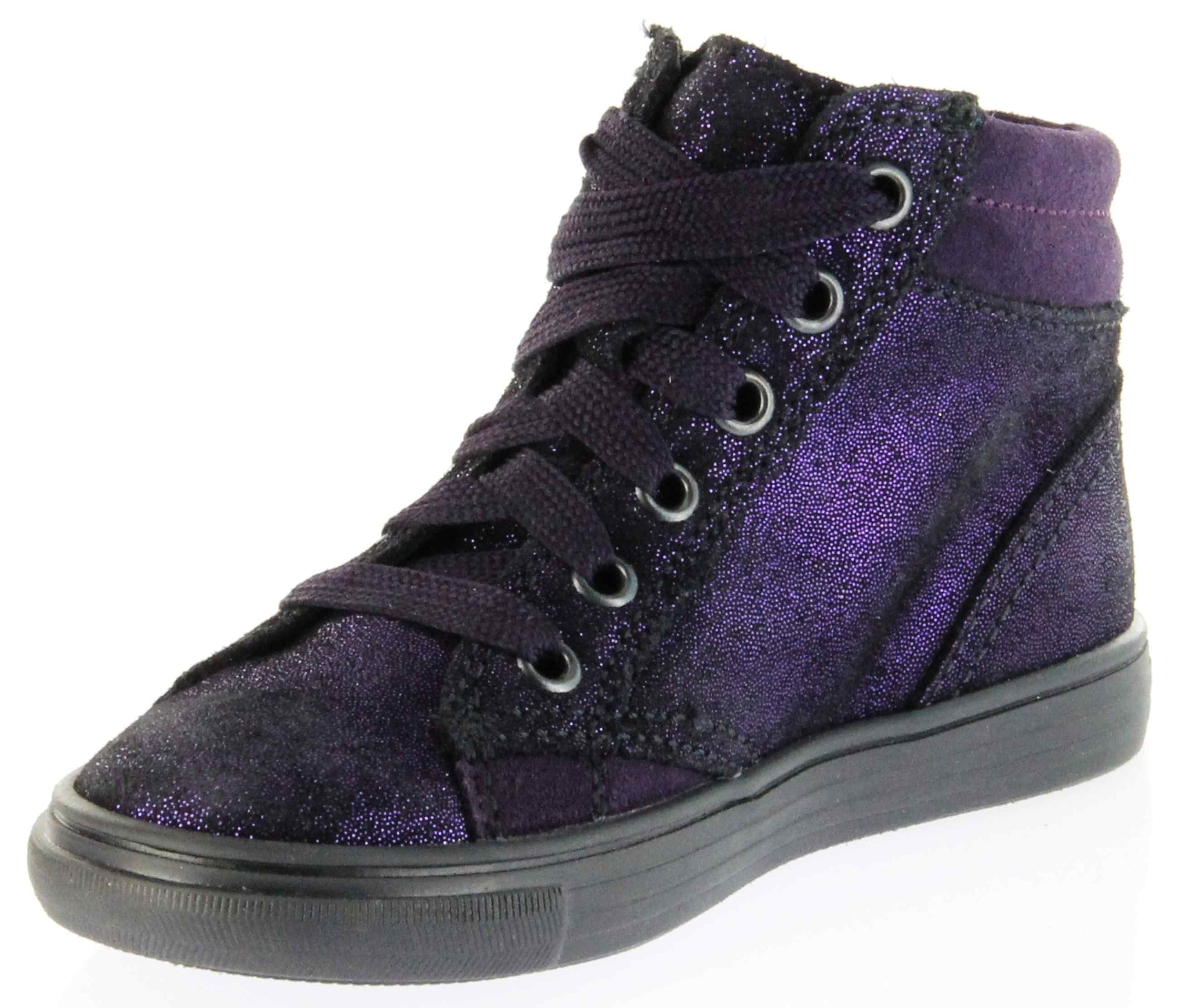 richter kinder halbschuhe sneaker violett velourleder. Black Bedroom Furniture Sets. Home Design Ideas