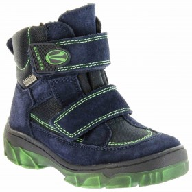 Richter Kinder Winter Stiefel blau Velour SympaTex Jungen-Schuhe Warm 7333-831-7201 atlantic Kite – Bild 1