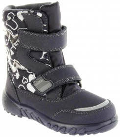 Richter Kinder Winter Boots Stiefel blau Warmfutter SympaTex Mädchen Blinkie WMS 5137-241-7201 atlantic Husky
