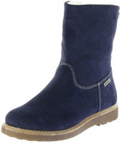 Richter Kinder Winter Stiefel blau Velourleder SympaTex Warm Mädchen 4750-242-7200 atlantic Audi – Bild 1