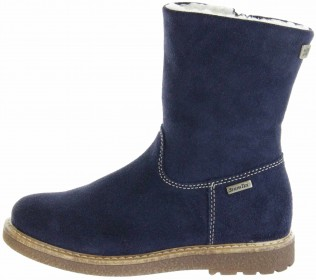 Richter Kinder Winter Stiefel blau Velourleder SympaTex Warm Mädchen 4750-242-7200 atlantic Audi – Bild 2