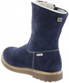 Richter Kinder Winter Stiefel blau Velourleder SympaTex Warm Mädchen 4750-242-7200 atlantic Audi – Bild 3
