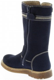 Richter Kinder Winter Stiefel blau Velourleder SympaTex Warm Mädchen 4752-241-7200 atlantic Audi – Bild 5