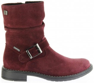 Richter Kinder Winter Stiefel rot Velourleder SympaTex Warm Mädchen 4251-241-7400 port Mary – Bild 2