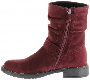 Richter Kinder Winter Stiefel rot Velourleder SympaTex Warm Mädchen 4251-241-7400 port Mary – Bild 7