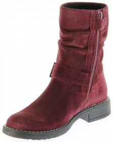 Richter Kinder Winter Stiefel rot Velourleder SympaTex Warm Mädchen 4251-241-7400 port Mary – Bild 8