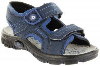 Richter Kinder Sandaletten Outdoor blau Lederdeck Jungen 8101-341-7201 atlantic Adventure – Bild 1