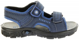 Richter Kinder Sandaletten Outdoor blau Lederdeck Jungen 8101-341-7201 atlantic Adventure – Bild 2