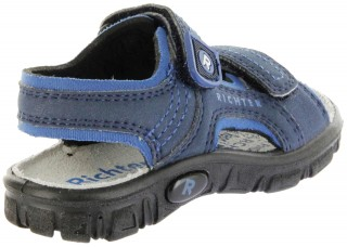 Richter Kinder Sandaletten Outdoor blau Lederdeck Jungen 8101-341-7201 atlantic Adventure – Bild 3