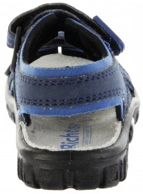 Richter Kinder Sandaletten Outdoor blau Lederdeck Jungen 8101-341-7201 atlantic Adventure – Bild 4