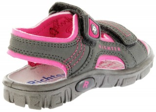 Richter Kinder Sandaletten Outdoor grau Lederdeck Mädchen 8101-341-6612 pebble Adventure – Bild 3