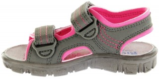 Richter Kinder Sandaletten Outdoor grau Lederdeck Mädchen 8101-341-6612 pebble Adventure – Bild 7
