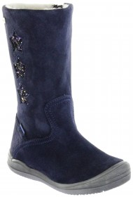 Richter Kinder Winter Stiefel blau Velourleder SympaTex Warm Mädchen 4952-442-7200 atlantic Stella – Bild 1