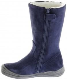 Richter Kinder Winter Stiefel blau Velourleder SympaTex Warm Mädchen 4952-442-7200 atlantic Stella – Bild 5