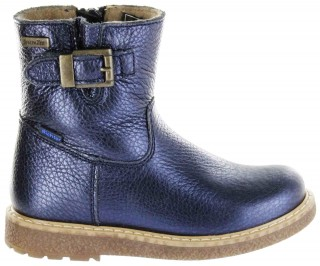 Richter Kinder Winter Boots Stiefel blau Warm Metallicleder RichTex Mädchen 4751-441-7200 atlantic Audi – Bild 2